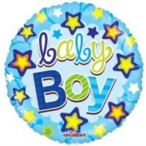 "BABY BOY BALLOON 18"" 19578-18"